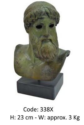 Ancient Greek Bronze Statue Of Poseidon Museum Replica