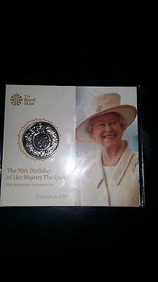 2016 90th Birthday of HM The Queen £5 B/U Coin Pack