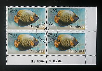 (H146) Philippines block of 4 stamps 1978 Scott 1384 pre-canceled OG