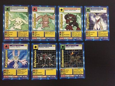 DIGIMON MOVIE PROMO CARDS -Mo-01,Mo-02,Mo-04,Mo-06,Mo-07,Mo-11,Mo-12 Very Good C