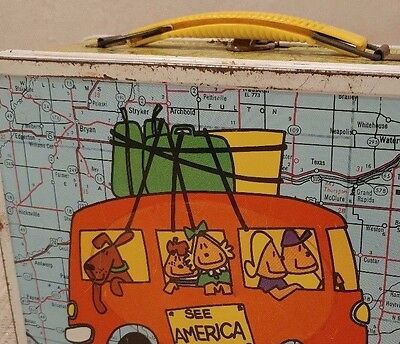 Vintage 1972 Ohio Arts See America Lunch Box - Cool!