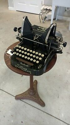 Antique Oliver No3 Typewriter Circa 1898 / Green