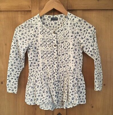 ***girls Next Floral White Blouse Top Age 7 ***