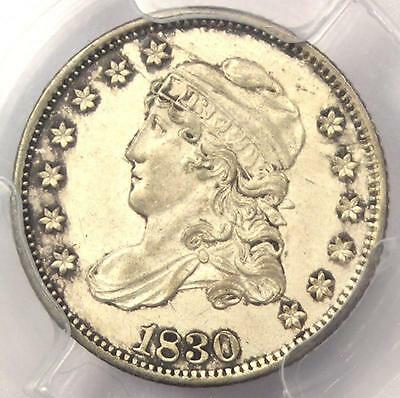 1830 Capped Bust Half Dime H10C - PCGS Uncirculated Details - Rare MS BU Coin!