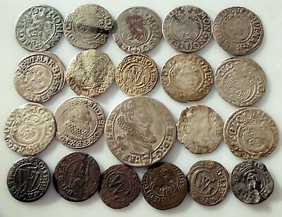 Mixed Medieval Silver coins  In the lot 21 PCs
