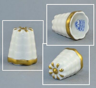 Lindner Germany White & Gold Thimble