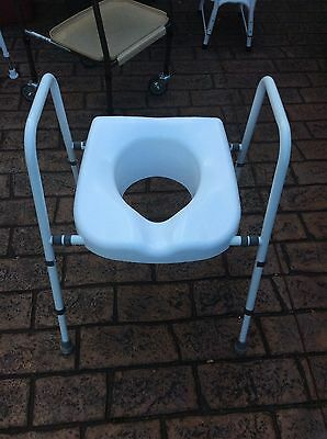 Mobility Toilet Seat Frame , Arms , Height Adjustable,clean Condition