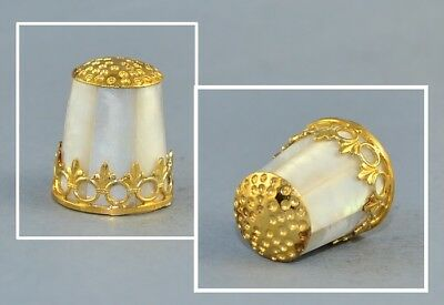 Mother Of Pearl Black Forest In Germany Thimble By Julius Weingert