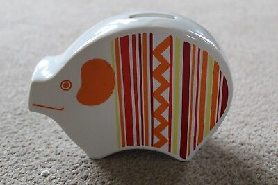 Collectable Carlton Ware Pig Money Box Typical bold pattern & Funky design 1960s