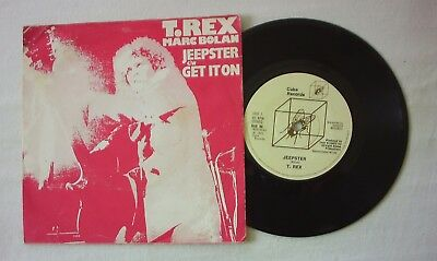 "T REX MARC BOLAN - JEEPSTER b/w GET IT ON - A1/B1 - 7"" VINYL"
