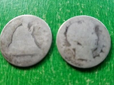 Seated liberty and barber quarters