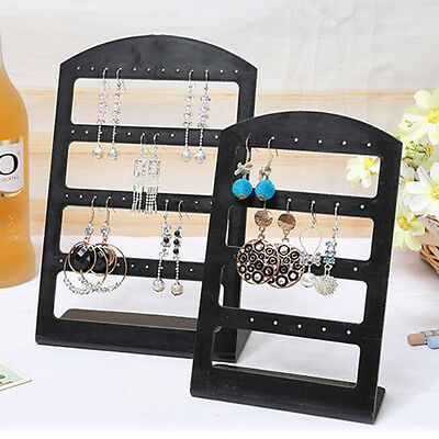 1X Earrings Ear Studs Display Rack Stand Jewelry Organizer Holder 24/48 Holes FY
