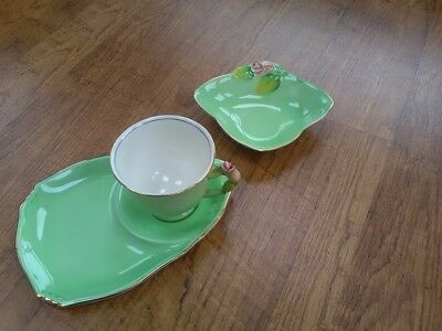 Old Royal Winton Grimwades Tennis Cup and Saucer and Bon Bon Dish with Rosebud.