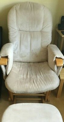 Nursery rocking chair with footstool