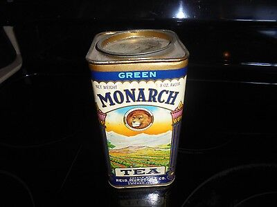 Old Monarch Green Tin 8 Oz. Advertising Container~~~ Free Shipping!!!