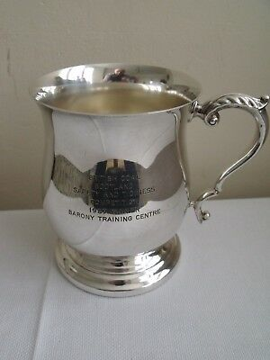 Silver Plated Presentation Cup, British Coal, Barony Training Centre