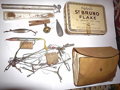 vintage. sea fishing tackle. mixed lot. beachcasting. angling. rig wallet traces