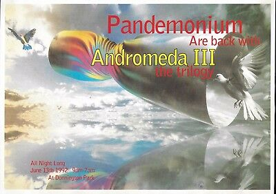 Pandemonium - Andromeda III Rave Flyer 1992 - Ratty, Simon Bassline Smith, DJ SS