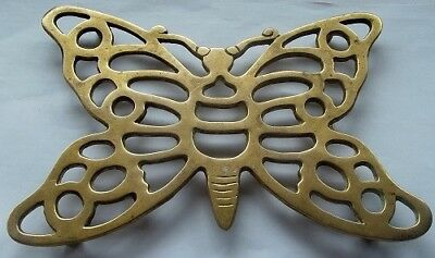 Antique / Vintage Brass Butterfly Iron Rest