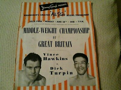 Hawkins v turpin  middle weight championship programme 1948