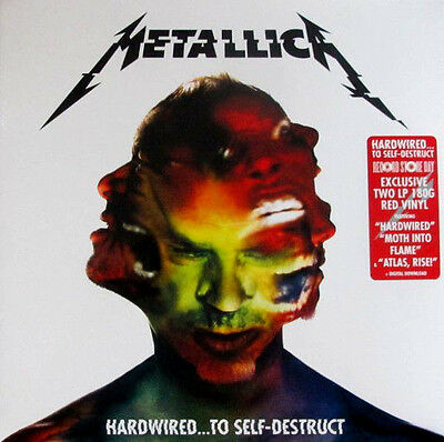 METALLICA Hardwired..To Self-Destruct 2016 Limited RSD RED Vinyl SEALED !!