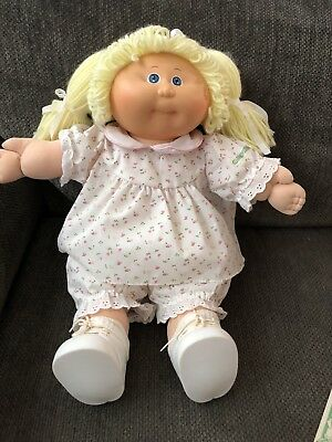 Cabbage Patch Doll With Original Clothes And Birth Certificate