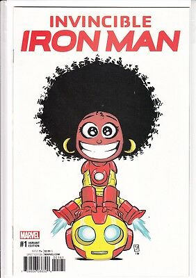 Invincible Iron Man #1 Skottie Young Baby Variant Cover Riri Williams New 2016