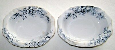 Antique 1893 Woodland Pattern English Ironstone Side Dish Bowls
