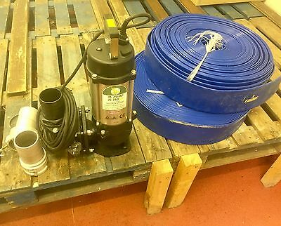 water /sewage  pump JS- 750sv submersible brand new /unused with flat lay pipe