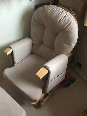 Mothercare Reclining Glider Chair In Beige