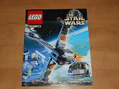 LEGO Star Wars B-Wing at Rebel Control Center 7180 Instructions Only Near Mint
