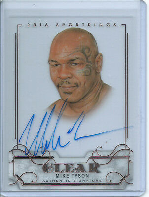 2017 Leaf Metal Heroes Mike Tyson Clear 2016 SportKings On-Card Auto Autograph