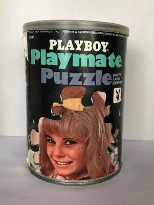 Vintage Playboy Playmate Puzzle in a Can, Centerfold,  1967 1320 pcs.
