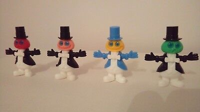vintage kinder toy     Pumpkin man in tails x4         Frackmännchen