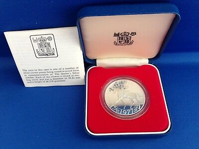 1977 Royal Mint Silver Proof Crown- Silver Jubilee - Cased With COA