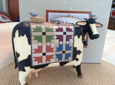 "Cow w/ Quilt - ""Bessy's First Quilt"" - Williraye - 7952 - New in Box"
