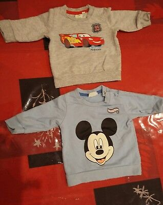 Lot 2 tee shirt manches longues Disney 6 mois