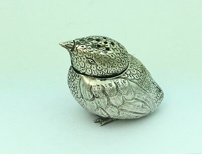 Antique Chinese Solid Silver Bird Salt/Pepper Shaker(R2681)