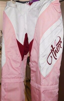 Nwt Womens Thor Motorcross Racing Static Free-Ride Pants Size- 5/6-  Pink