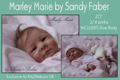 Marley/marie Reborn Doll Kit By Sandy Faber