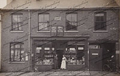 Edith Emily Powell Shop Brewood 6 X 4 New Photo Of Rare Old Image 1914