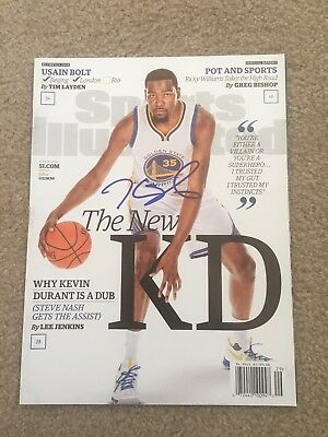 Kevin Durant Signed Autographed Auto Sports illustrated Magazine Warriors