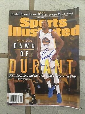 Kevin Durant Signed Autographed Auto Sports illustrated Golden State Warriors