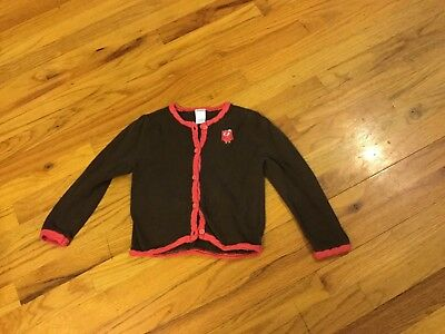 "Girls Gymboree sweater size 2T brown w/owl ""Fall Homecoming"""