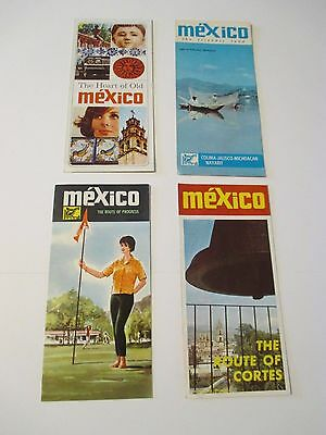 4 Vintage MEXICO Travel Guides Pamphlets Brochures