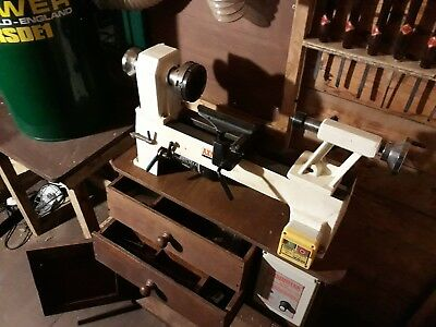 Woodturning Lathe Axminster and accessories