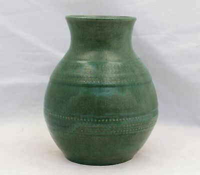 "Vintage Scandinavian Pottery Vase - Stamped ""Made in Finland Kupela"""