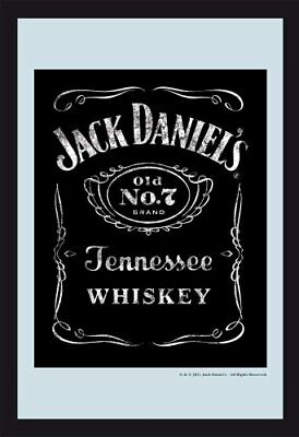 Empireposter Jack Daniels Logo 3 Printed Wall Mirror 20 x 30 cm with Black Plast