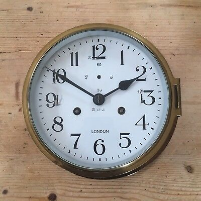 Vintage Sistrel Brass Ship Clock