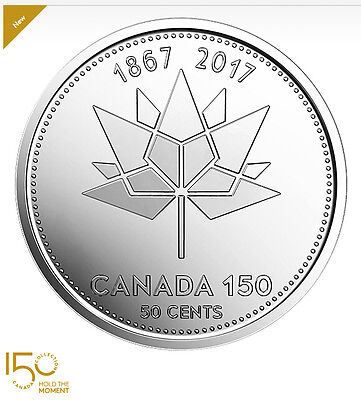 2017 Canada 50 cents 150th Anniversary Canada Official Logo